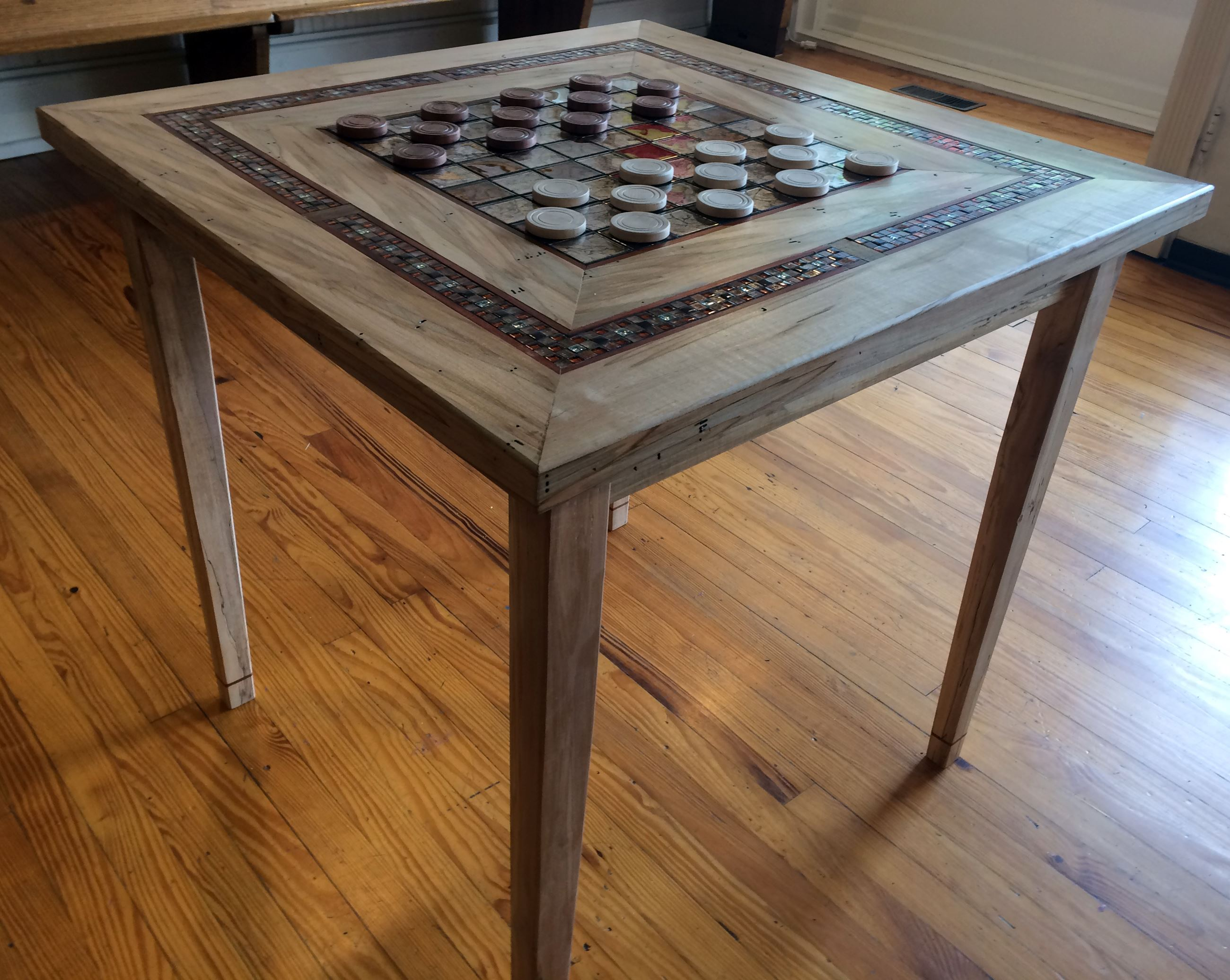 Checker Table by Des Black and Janet Chalker