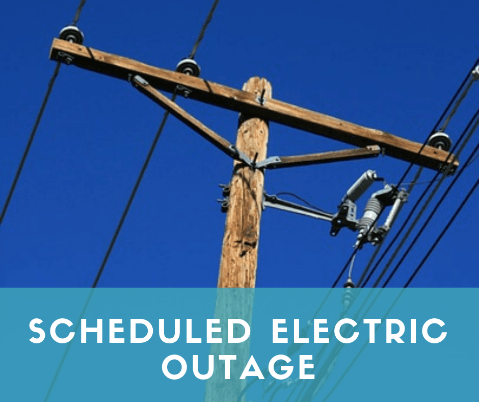 scheduled electric outage