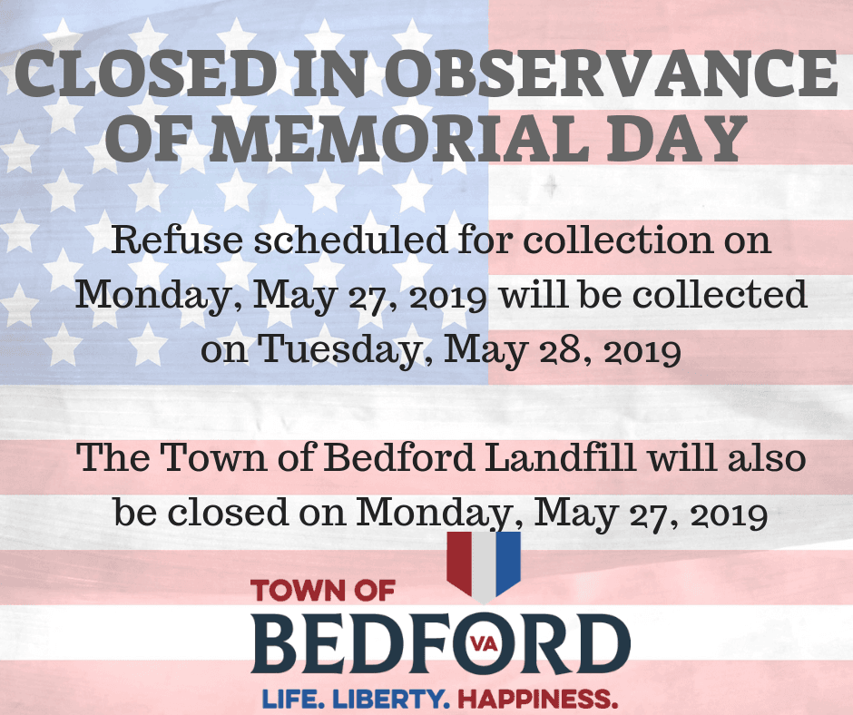 Closed in observance of Memorial day 2019
