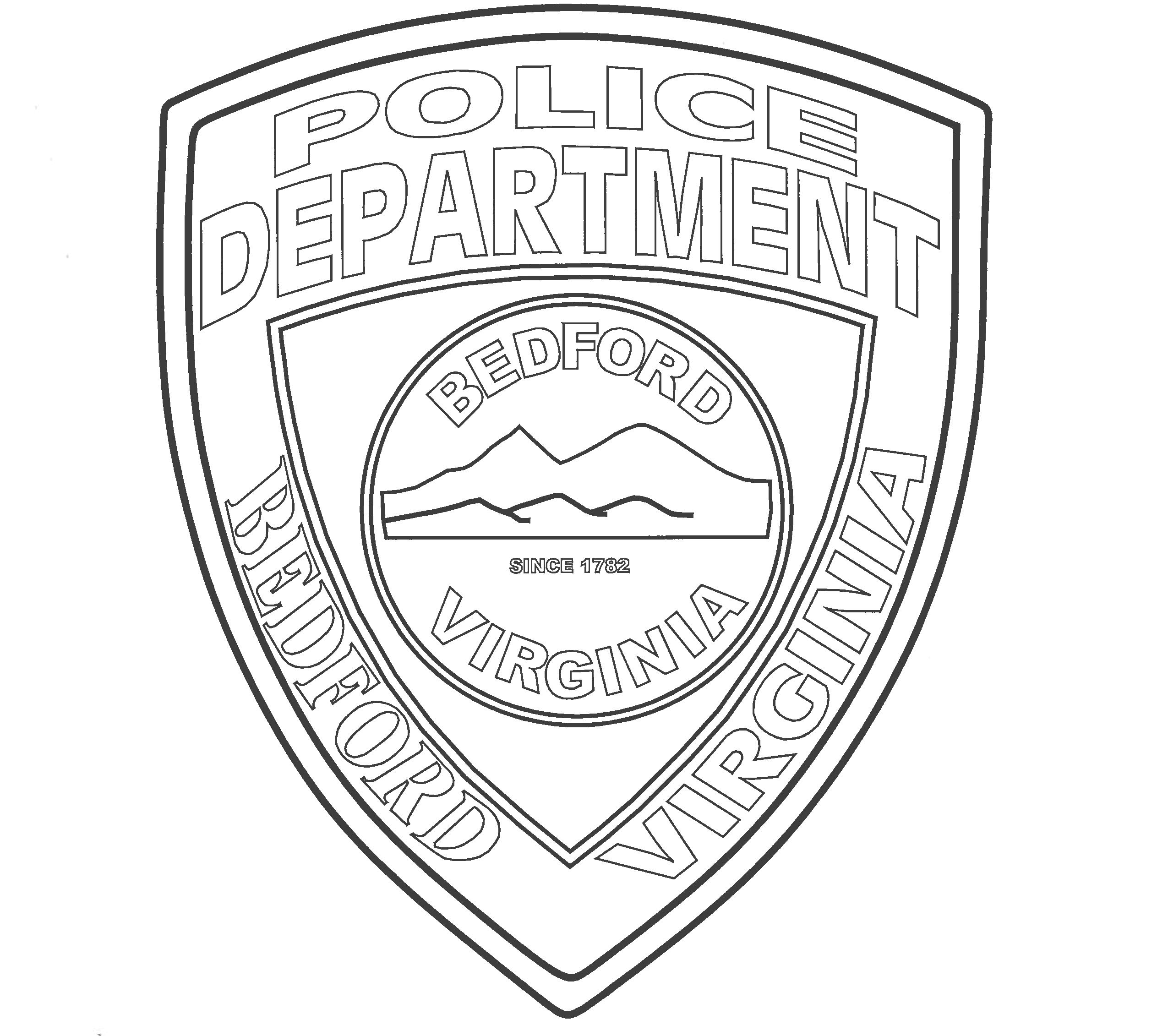 Coloring Page - Police Department Patch