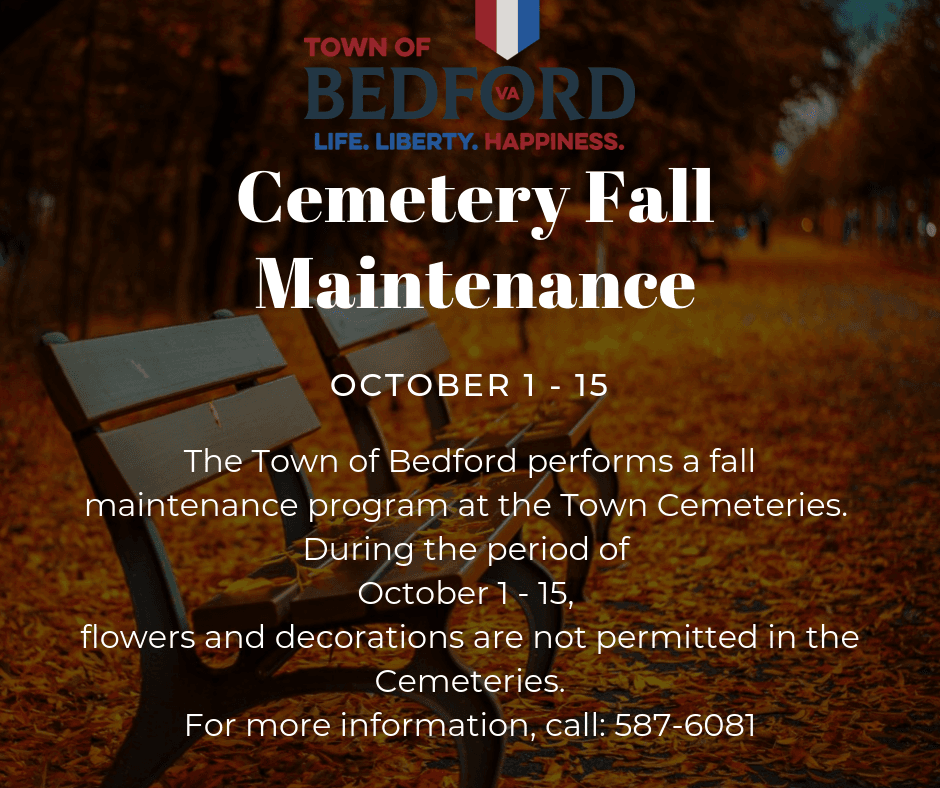 Cemetery Fall Maintenance