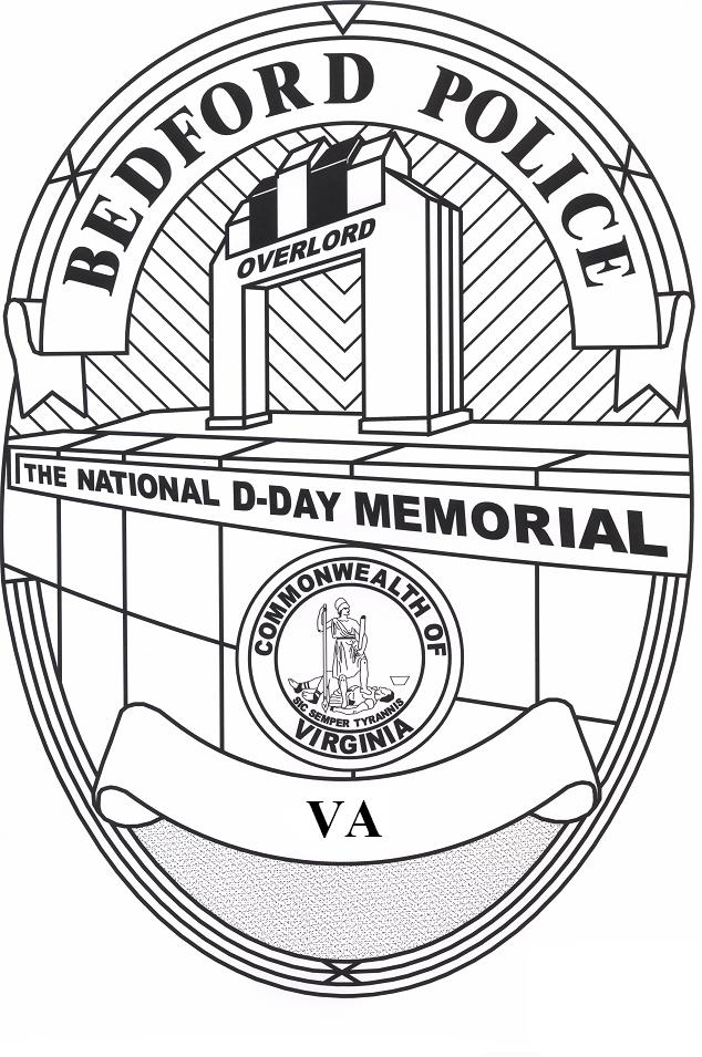 Coloring Image - Bedford Police Badge and National D-Day Memorial