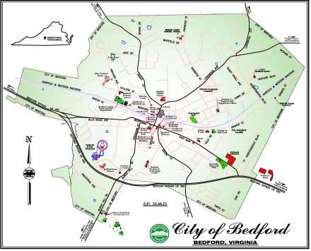 About Bedford - Map