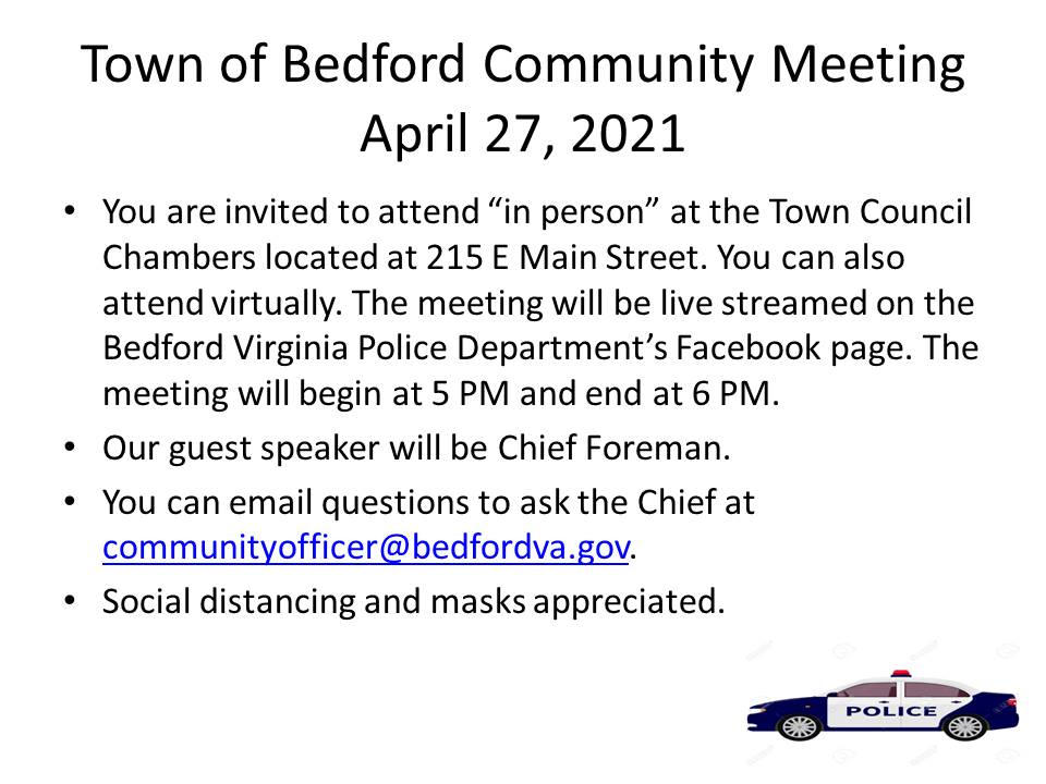 Town of Bedford Police Community Meeting April 27