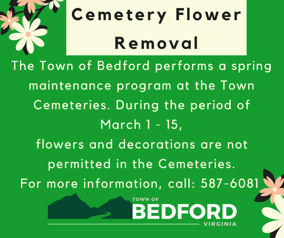 cemetery spring flower removal