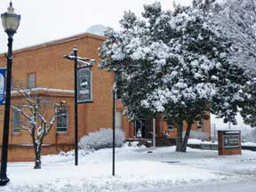 Administrative Building in Snow