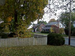 Bedford Avenue View of Picket Fence